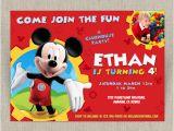 Mickey Mouse Clubhouse Birthday Invites Disney Mickey Mouse Clubhouse Customizable Printable Party