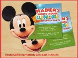 Mickey Mouse Clubhouse Birthday Invites Mickey Mouse Clubhouse Birthday Invitations Custom