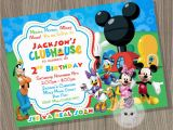 Mickey Mouse Clubhouse Birthday Invites Mickey Mouse Clubhouse Invitation Mickey Mouse by Cutepixels