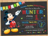 Mickey Mouse Clubhouse Custom Birthday Invitations Mickey Mouse Birthday Invitation Mickey Mouse Clubhouse