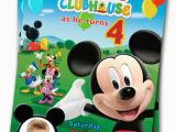 Mickey Mouse Clubhouse Custom Birthday Invitations Mickey Mouse Clubhouse Birthday Invitations Printable Mickey