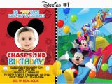 Mickey Mouse Clubhouse Custom Birthday Invitations Mickey Mouse Clubhouse Birthday Party Photo Invitations