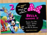 Mickey Mouse Clubhouse Custom Birthday Invitations Minnie Mickey Mouse Clubhouse Invitation Printable Birthday