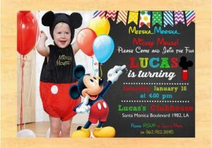 Mickey Mouse Clubhouse First Birthday Invitations Custom Mickey Mouse 1st Birthday Invitations by Partyinstant