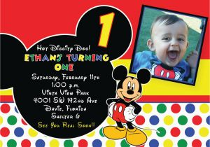 Mickey Mouse Clubhouse First Birthday Invitations Free Printable 1st Mickey Mouse Birthday Invitations