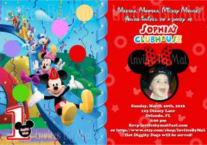 Mickey Mouse Clubhouse First Birthday Invitations Free Printable Mickey Mouse 1st Birthday Invitations