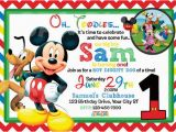 Mickey Mouse Clubhouse First Birthday Invitations Mickey Mouse 1st Birthday Invitations Drevio Invitations