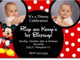 Mickey Mouse Clubhouse First Birthday Invitations Mickey Mouse Christening Invitation orderecigsjuice Info