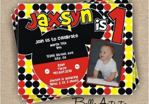 Mickey Mouse Clubhouse First Birthday Invitations Mickey Mouse Clubhouse 1st Birthday Invitations