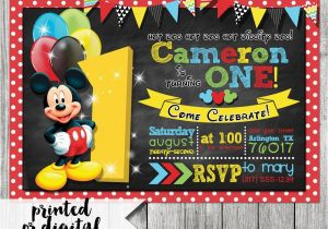 Mickey Mouse Clubhouse First Birthday Invitations Mickey Mouse Invitation Mickey Mouse 1st Birthday Mickey