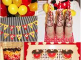 Mickey Mouse Decorations for Birthday Party A Retro Mickey Inspired Birthday Party Party Ideas