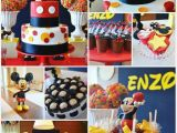 Mickey Mouse Decorations for Birthday Party Kara 39 S Party Ideas Mickey Mouse First Birthday Party