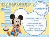 Mickey Mouse First Birthday Card Baby Mickey Mouse Matches Mickey 39 S 1st Party Supplies