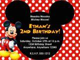 Mickey Mouse First Birthday Card Birthday Invitation Mickey Mouse Birthday Invitations