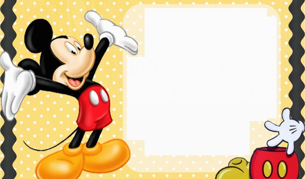 Mickey Mouse First Birthday Card Free Printable
