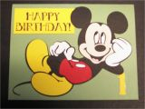 Mickey Mouse First Birthday Card Items Similar to Mickey Mouse First Birthday Card 2 On Etsy
