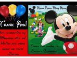 Mickey Mouse First Birthday Card Mickey Mouse Clubhouse Birthday Thank You Cards Balloon