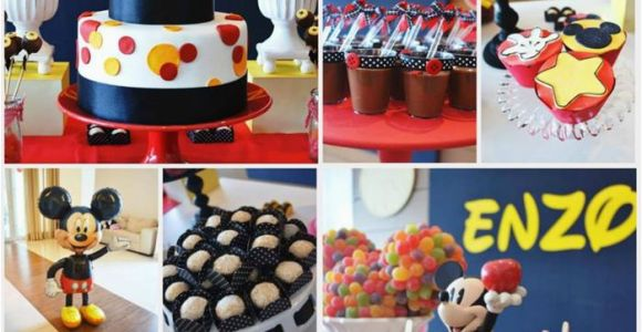Mickey Mouse First Birthday Party Decorations Kara 39 S Party Ideas Mickey Mouse First Birthday Party