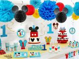Mickey Mouse First Birthday Party Decorations Mickey Mouse 1st Birthday Party Supplies Party City