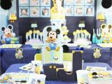 Mickey Mouse First Birthday Party Decorations Mickey Mouse First Birthday Party Ideas soiree event Design