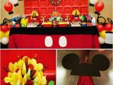 Mickey Mouse First Birthday Party Decorations some Awesome Birthday Party Ideas Over the Mickey Mouse theme