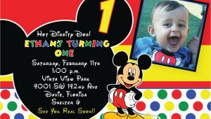 Mickey Mouse themed Birthday Invitations Free Printable 1st Mickey Mouse Birthday Invitations