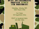 Military Birthday Cards Army Birthday Invitations Army Birthday Invitations by Way