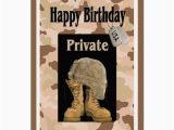 Military Birthday Cards Military Army Private Birthday Card Zazzle Com