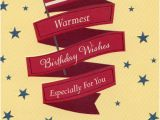 Military Birthday Cards Us Flag with Red Foil Banners and Blue Stars Military