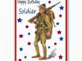 Military Birthday Cards Vintage Military Happy Birthday Card soldiers Vintage