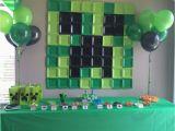 Minecraft Decoration Ideas for Birthday Minecraft Birthday Party Ideas Printable Party Games