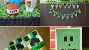 Minecraft Decorations for Birthday Party Vintage Minecraft Video Game Boy Birthday Party Planning