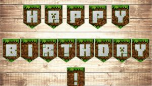 Minecraft Happy Birthday Banner Minecraft Birthday Banner Minecraft Party Magianrainbow