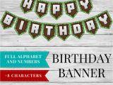 Minecraft Happy Birthday Banner Pdf Birthday Banner Printable Minecraft Happy Birthday Banner