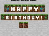 Minecraft Happy Birthday Banner Pdf Items Similar to Minecraft Happy Birthday Banner