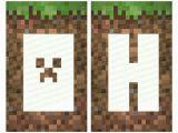 Minecraft Happy Birthday Banner Pdf Minecraft Banner Personalized Banner Happy Birthday Pdf