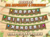 Minecraft Happy Birthday Banner Pdf Minecraft Birthday Banner Party Printable Personalized