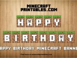Minecraft Happy Birthday Banner Printable Free Birthday Banner Printable Minecraft Happy Birthday