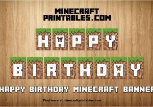 Minecraft Happy Birthday Banner Printable Free Birthday Banner Printable Minecraft Happy Birthday