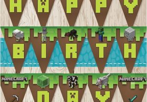 Minecraft Happy Birthday Banner Printable Free Printable Minecraft Birthday Banner for A Minecraft themed