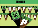 Minecraft Happy Birthday Banner Printable Free Printable Minecraft Birthday Banner