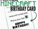 Minecraft Printable Birthday Card 6 Best Images Of Minecraft Printable Birthday Card