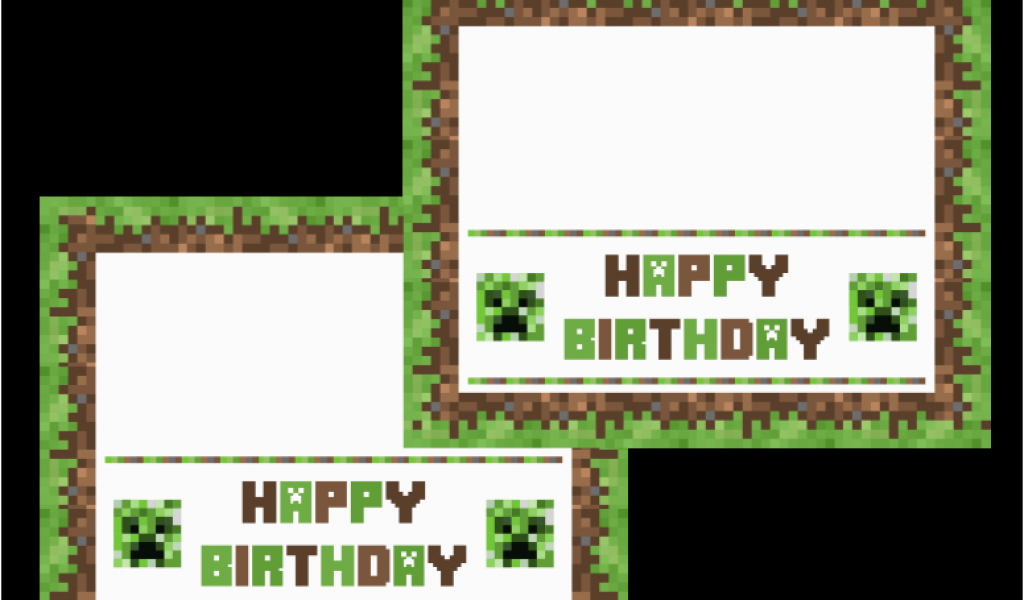 photograph relating to Minecraft Birthday Card Printable named Minecraft Printable Birthday Card 9 Perfect Photographs Of Minecraft