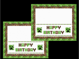 Minecraft Printable Birthday Card 9 Best Images Of Minecraft Birthday Printables Free