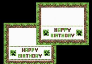 graphic regarding Minecraft Printable Birthday Cards known as Minecraft Printable Birthday Card Free of charge Printable Minecraft