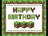 Minecraft Printable Birthday Card Free Minecraft Printables Catch My Party