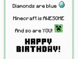 Minecraft Printable Birthday Card Free Printable Minecraft Birthday Card Minecraft