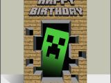 Minecraft Printable Birthday Card Minecraft Birthday Quotes Quotesgram