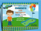 Mini Golf Birthday Invitations Free Printable Mini Golf Invitations