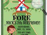 Mini Golf Birthday Invitations Mini Golf Birthday Invitations Di 380 Harrison